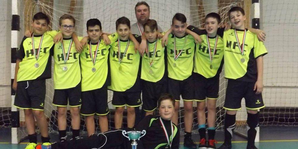 Ezüstérmes a HFC U13 a megyei futsal döntőben